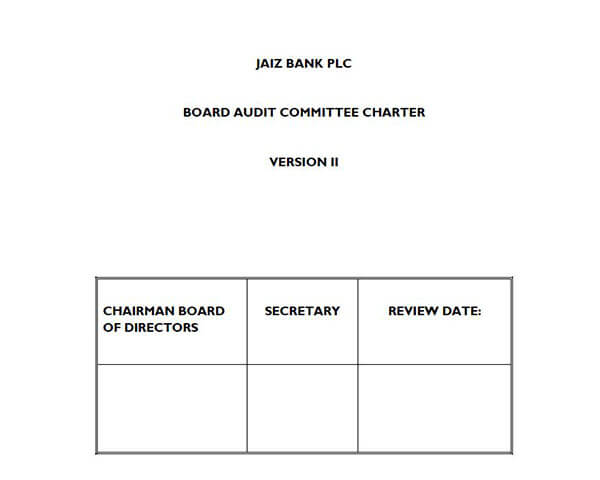 Board Audit Committee Charter Version II