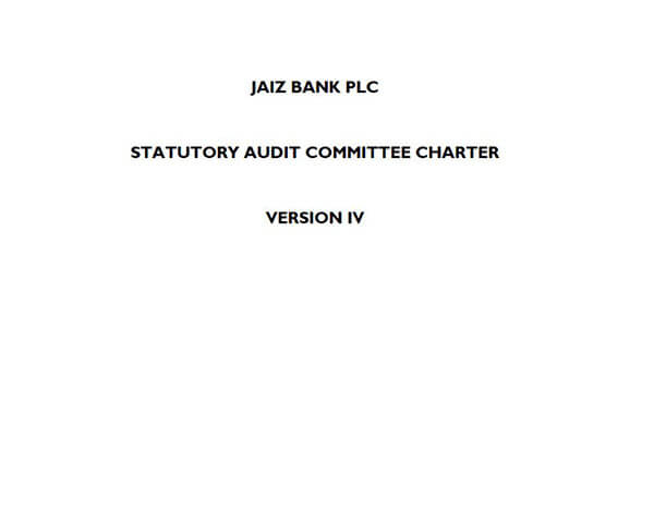 Statutory Audit Committee Charter Version IV